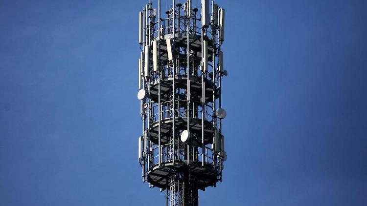 Mobilfunk-Mast. Foto: Fredrik von Erichsen/dpa/Archivbild