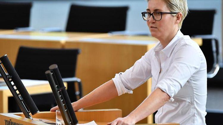 Susanne Hennig-Wellsow. Foto: Martin Schutt/dpa-Zentralbild/dpa/Archivbild