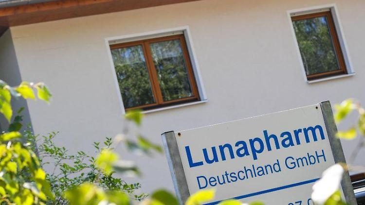 Das Gebäude der Lunapharm Deutschland GmbH. Foto: Patrick Pleul/dpa-Zentralbild/dpa
