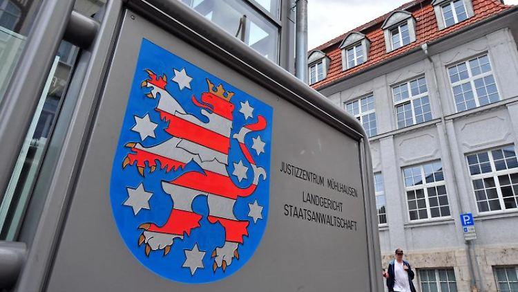 Das Justizzentrum Mühlhausen mit Landgericht und Staatsanwaltschaft. Foto: Martin Schutt/zb/dpa