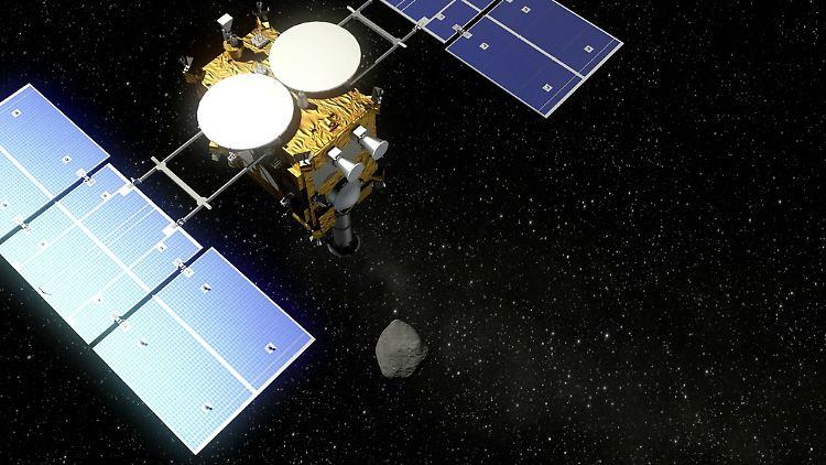 Japanische Raumsonde verlässt Asteroiden