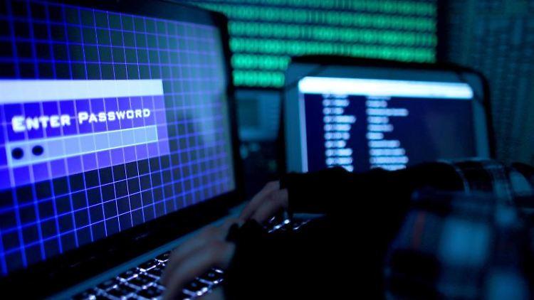 Ein Passwort wird auf einem Laptop über die Tastatur eingegeben. Foto: Oliver Berg/dpa