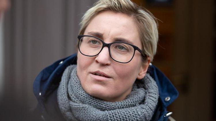 Susanne Hennig-Wellsow (Linke), thüringer Landes- und Fraktionsvorsitzende ihrer Partei. Foto: Michael Reichel/dpa