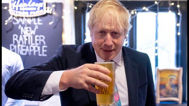 Großbritannien vor der Wahl: Neue Umfrage sieht Boris Johnsons Konservative klar vorn