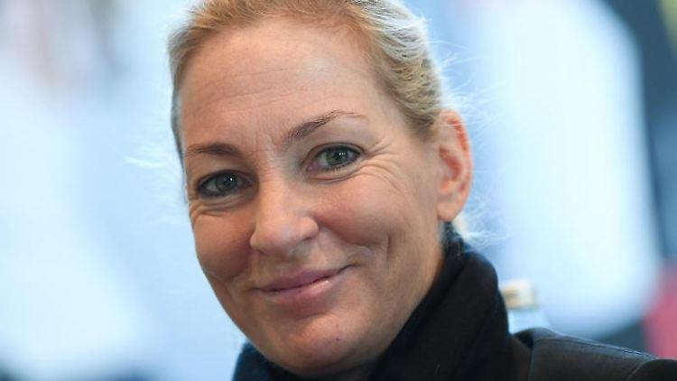 Barbara Rittner, Head of Women's Tennis des DTB, während der Mitgliederversammlung. Foto: Arne Dedert/dpa