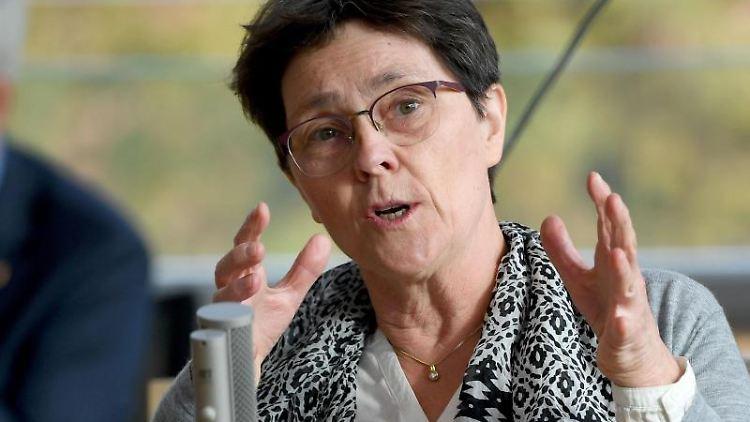 Monika Heinold (Bündnis90/Die Grünen), Finanzministerin von Schleswig-Holstein, spricht. Foto: Carsten Rehder/dpa
