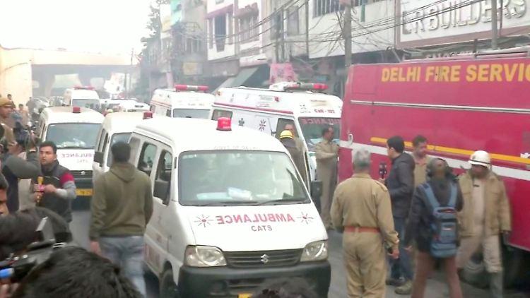 Indien: Mehr als 40 Tote bei Brandkatastrophe in Neu-Delhi