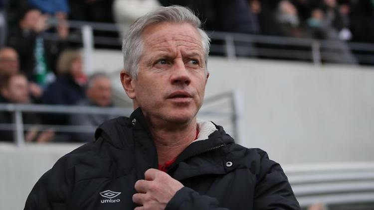 Der Nürnberger Trainer Jens Keller ist zu sehen. Foto: Daniel Karmann/dpa/Archiv