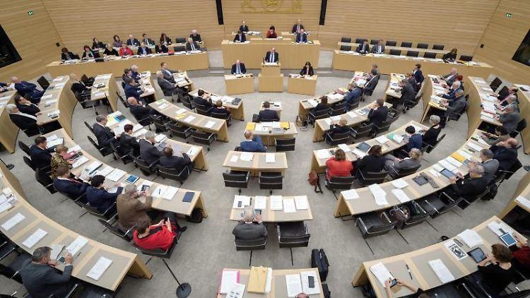 Der Landtag von Baden-Württemberg in Stuttgart. Foto: Sina Schuldt/dpa/Archivbild