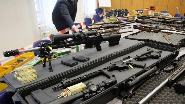Sichergestellte Waffen von