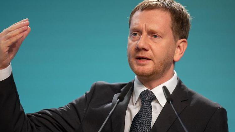 Michael Kretschmer (CDU). Foto: Michael Reichel/dpa/Archivbild