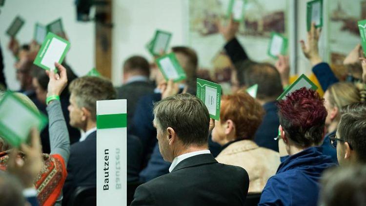 Sächsische Union stimmt für Koalition mit Grünen und SPD. Foto: Oliver Killig/dpa-Zentralbild/dpa