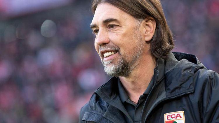 Augsburgs Trainer Martin Schmidt. Foto: Marius Becker/dpa/Archivbild