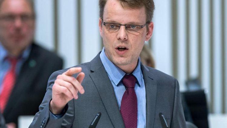 Nikolaus Kramer, Fraktionschef der AfD im Landtag von Mecklenburg-Vorpommern. Foto: Jens Büttner/zb/dpa