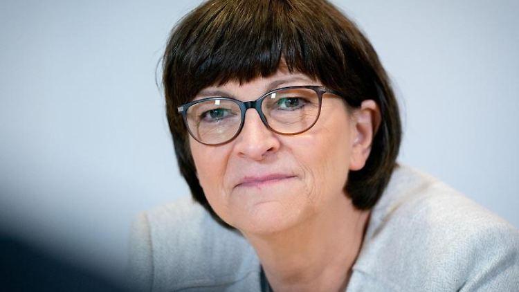 Saskia Esken, Bundesvorsitzende der SPD. Foto: Kay Nietfeld/dpa/Archivbild