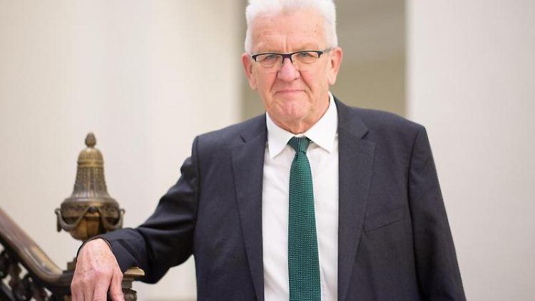 Winfried Kretschmann (Grüne), Ministerpräsident von Baden-Württemberg. Foto: Sebastian Gollnow/dpa/Archivbild