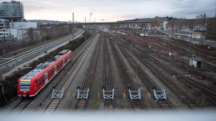 Der zukünftige Abstellbahnhof Untertürkheim, der zum Bahnprojekt Stuttgart 21 gehört. Foto: Sebastian Gollnow/dpa/Archivbild