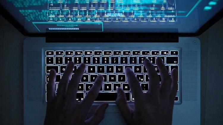 Ein Computernutzer tippt auf seinem Laptop. Foto: Silas Stein/dpa/Archivbild