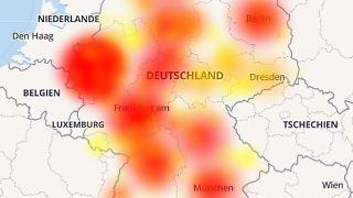 Probleme fast im ganzen Land: So sah Deutschland auf der Störungskarte für Vodafone-Kunden am Morgen aus.