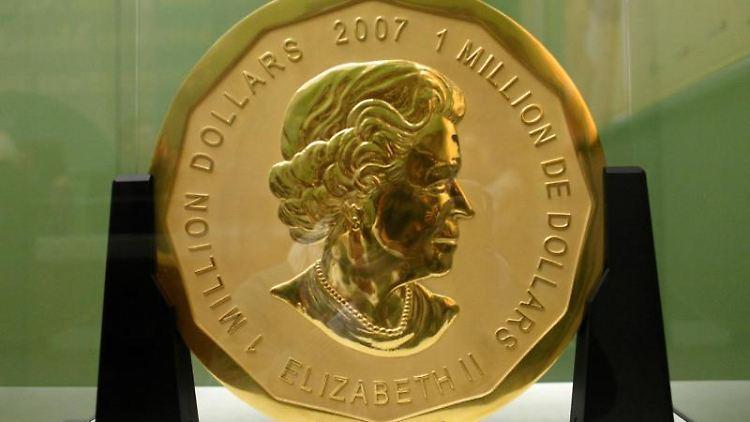Die 100 Kilogramm schwere Goldmünze