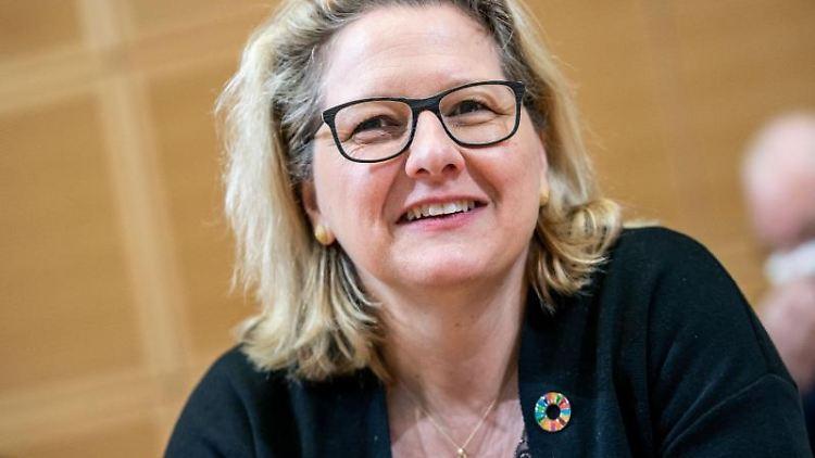 Svenja Schulze (SPD), Bundesministerin für Umwelt, Naturschutz und nukleare Sicherheit. Foto: Michael Kappeler/Archiv