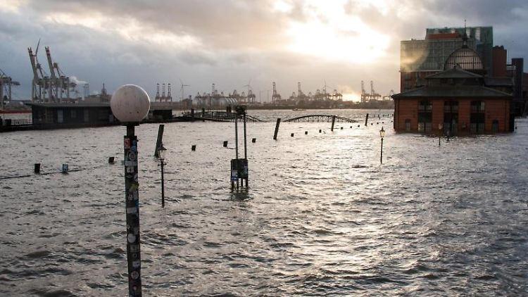 Sturmflut Hamburg 2021