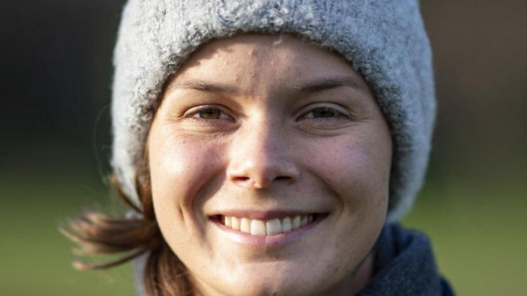 Die Golferin Esther Henselei. Foto: Axel Heimken/dpa/Archivbild