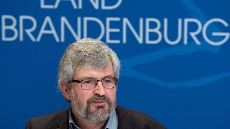 Axel Vogel (Bündnis 90/Die Grünen), Brandenburger Minister für Landwirtschaft, Umwelt und Klimaschutz. Foto: Soeren Stache/dpa-Zentralbild/dpa