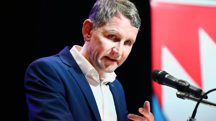 Björn Höcke (AfD) spricht vor einem Mikrofon. Foto: Bodo Schackow/dpa/Archivbild