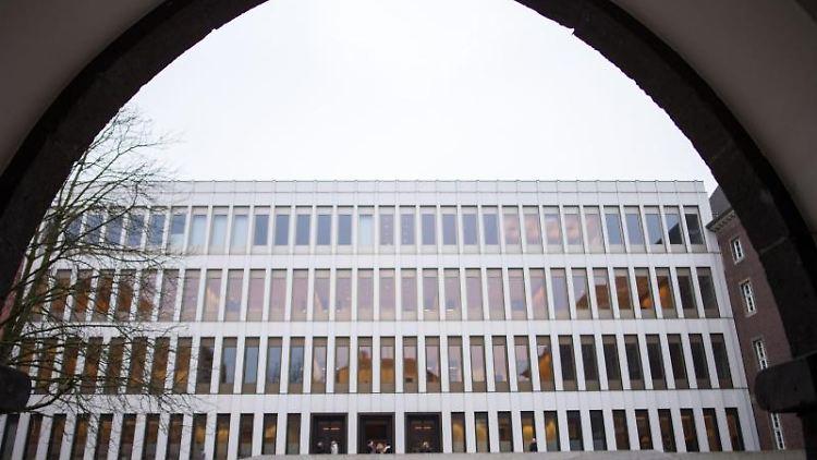 Das Justizzentrum Aachen mit dem Amts- und Landgericht. Foto: Marius Becker/dpa/Archiv
