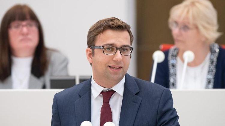 Erik Stohn, der Brandenburger SPD-Fraktionschef. Foto: Soeren Stache/dpa-Zentralbild/dpa/Archivbild