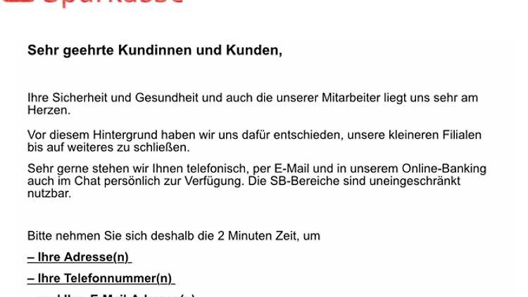 Auf den ersten Blick sieht die Phishing-Mail sehr echt aus.