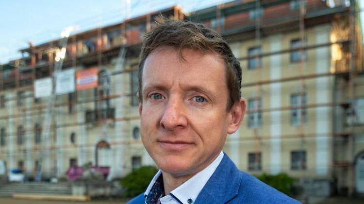 Andreas Brohm (parteilos), Bürgermeister von Tangerhütte. Foto: Klaus-Dietmar Gabbert/dpa-Zentralbild/ZB/Archivbild