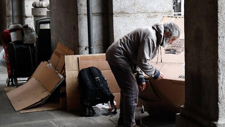 Obdachlose haben kaum Schutz vor dem Virus.