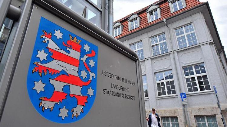 Das Justizzentrum Mühlhausen mit Landgericht und Staatsanwaltschaft. Foto: Martin Schutt/zb/dpa/Symbolbild