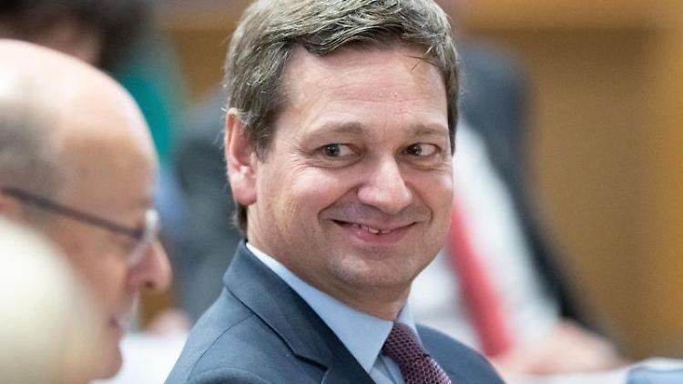Christian Baldauf während einer Plenarsitzung. Foto: Silas Stein/dpa/Archivbild