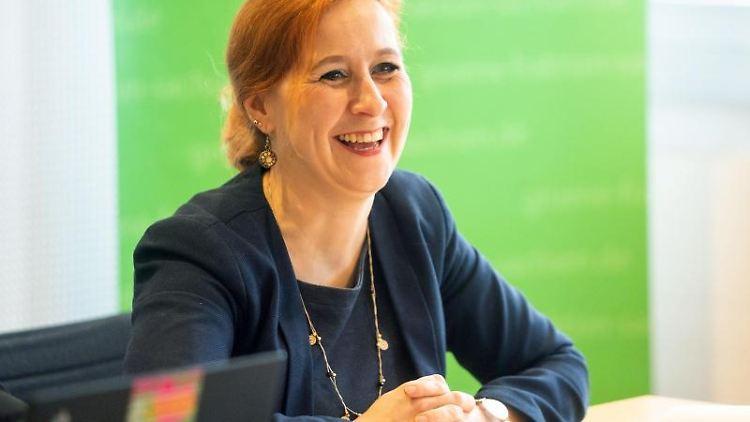 Franziska Schubert, Fraktionsvorsitzende der sächsischen Grünen. Foto: Ronald Bonss/dpa-Zentralbild/dpa/Archivbild