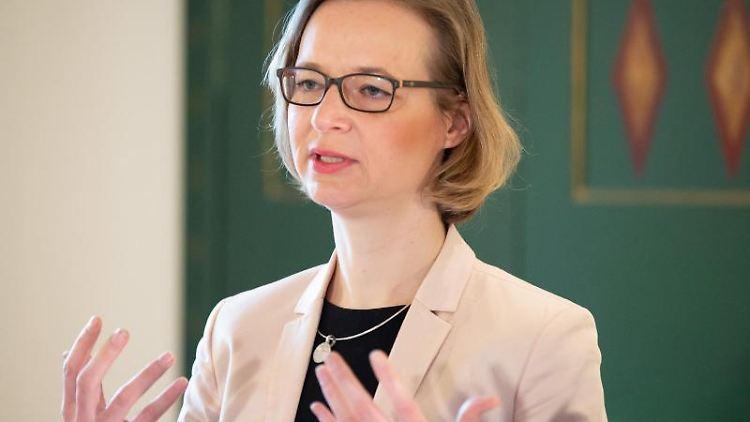 Katja Wolf (Die Linke), Oberbürgermeisterin von Eisenach. Foto: Swen Pförtner/dpa/Archivbild