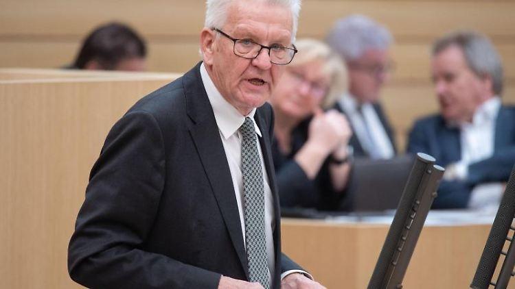 Winfried Kretschmann (Bündnis 90/Die Grünen), Ministerpräsident von Baden-Württemberg. Foto: Marijan Murat/dpa/Archivbild