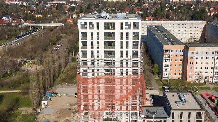 Blick auf den Lipsia-Turm inLeipzig. Foto: Jan Woitas/dpa-Zentralbild/dpa