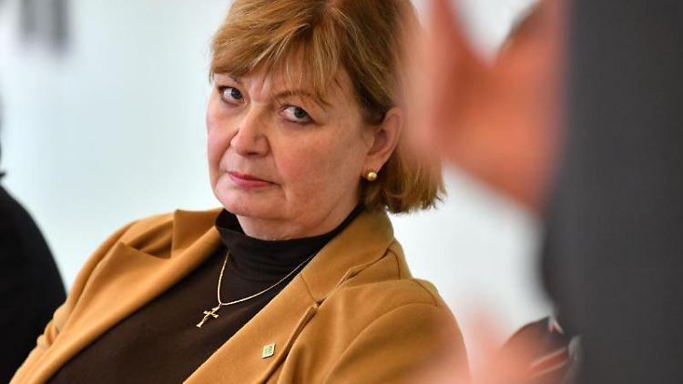 Martina Schweinsburg (CDU), Landrätin des Landkreis Greiz. Foto: Martin Schutt/dpa-Zentralbild/dpa/Archivbild