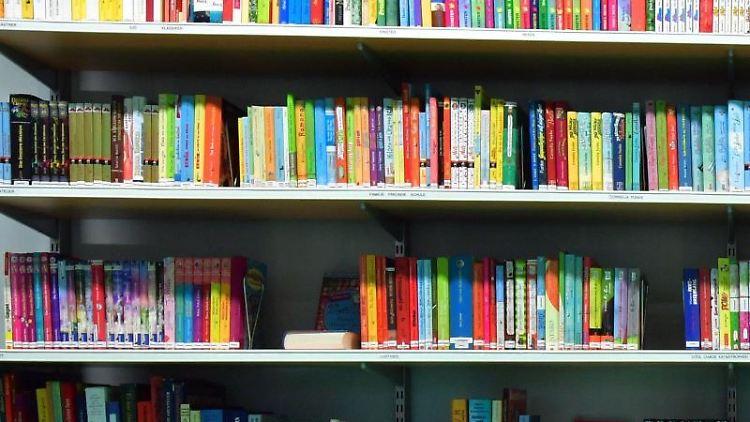Bücher stehen in einem Regal in einer Bibliothek. Foto: Martin Schutt/dpa-Zentralbild/dpa/Symbolbild