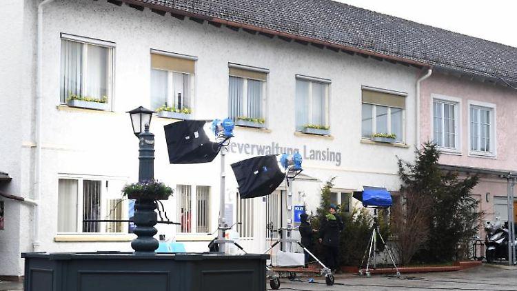 Auf dem Drehgelände der Familienserie des Bayerischen Rundfunks