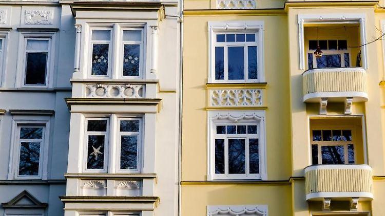 Häuserfassaden. Foto: Frank Molter/dpa/Symbolbild