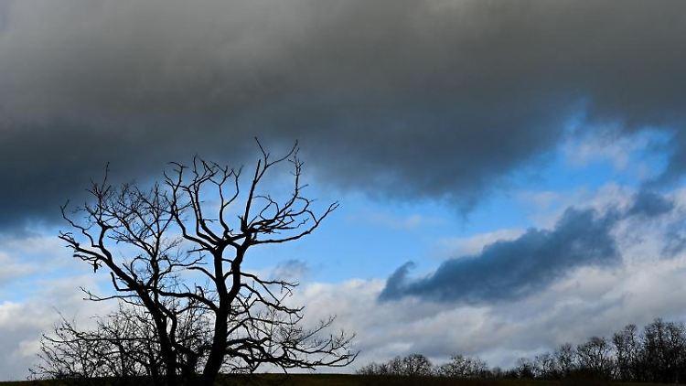 Regenwolken ziehen über eine Landschaft. Foto: Patrick Pleul/dpa-Zentralbild/ZB/Symbolbild