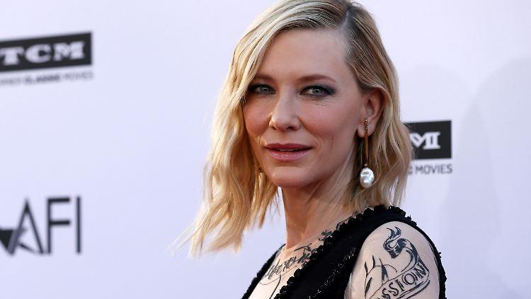 Kleine Schnittwunde Am Kopf Cate Blanchett Verletzt Sich Mit Kettensage N Tv De