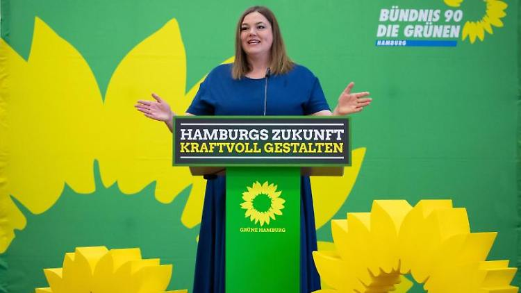 Katharina Fegebank (B90/Grüne), Hamburgs Zweite Bürgermeisterin und Senatorin für Wissenschaft. Foto: Christian Charisius/dpa