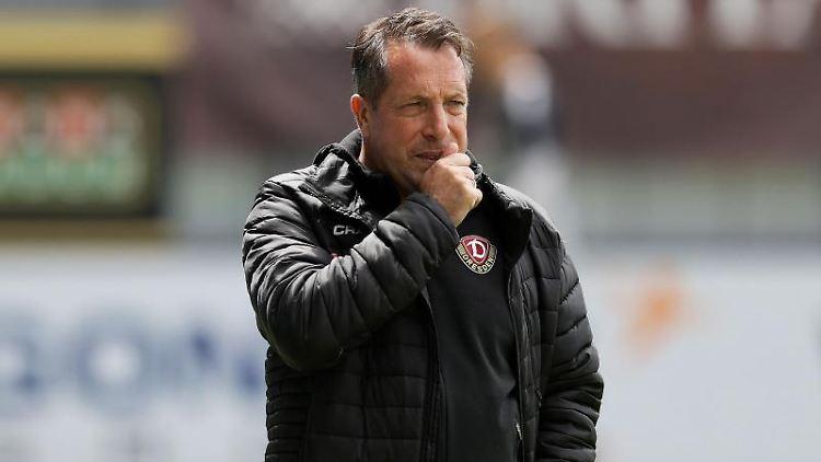 Dresdens Trainer Markus Kauczinski. Foto: Ronald Wittek/epa/Pool/dpa