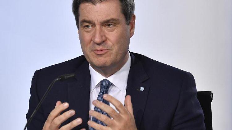 Markus Söder, Ministerpräsident von Bayern und Vorsitzender der CSU. Foto: John Macdougall/AFP/POOL/dpa/Archivbild