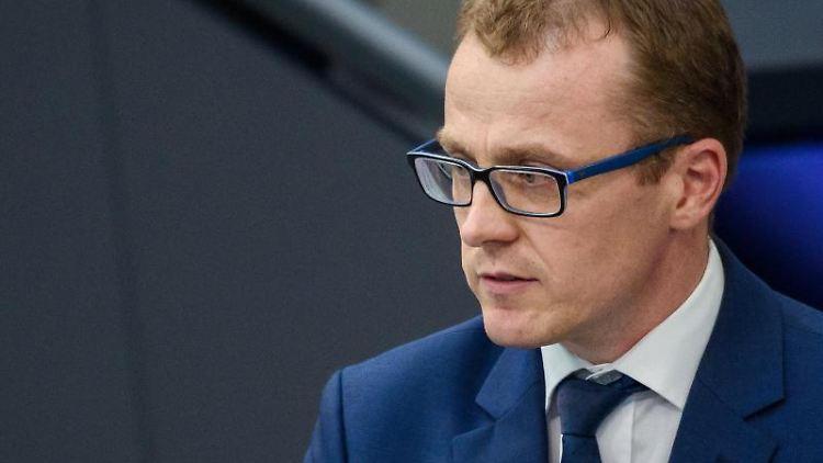 Alexander Krauß (CDU), Bundestagsabgeordneter, spricht. Foto: Gregor Fischer/dpa/Archivbild